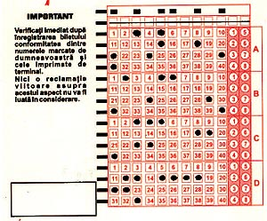 bilet loto 5/40 cu variante combinate